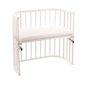 NSAuk BabyBay Convertible Cot with Coconut/Bamboo Fitted Mattress