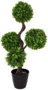 Geko 1-Piece Large 90 cm Single Artificial UV Boxwood Topiary Tree