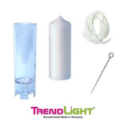 TrendLight 860498 Pillar Candle Mould 60 x 200 mm Including 1 m Wick, Wick Holder and Instructions [German Language Product]
