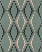 Graham & Brown Hemingway 50-254 Paper Wallpaper Deco Diamond Design