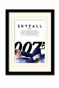 James Bond Skyfall One Sheet White A3 Framed and Mounted Print