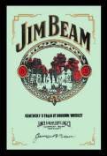 Empire Merchandising 537430 Printed Mirror with Plastic Frame with Wood Effect Featuring Jim Beam Whiskey Advert 20 x 30 cm