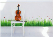 Topro Green Lawn Fresh Grass Insects Foot Line Wall Art Stickers Decal for ...
