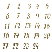 Acrylic Gold Mirror Advent Calendar Number Stickers | Childrens Craft Stickers