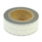 Scalloped Paper Tape - Live Happily Ever After