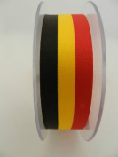 Always Knitting And Sewing 2 Metres Belgian Flag Ribbon Black Yellow & Red Belgium, 15mm