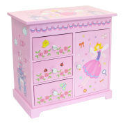 """Sarah"" Pink Girls Musical Jewellery Box With Fairy Castle Images by Mele & Co."