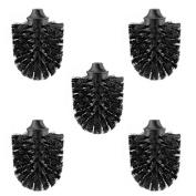 Toilet brush head black, Ø 73 mm, M12 internal thread, set of 5