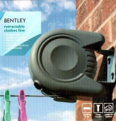 Bentley Retractable Washing Line Cloths Wall Mounted Outdoor Laundry Clean Wash.