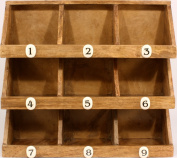 Rustic Wooden Storage Rack With 9 Numbered Compartments