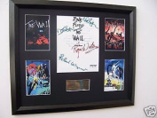 Pink Floyd autograph display music memorabilia