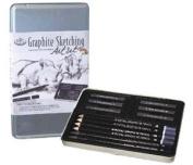 Royal Small Tin Graphite Sketching Art Set - 3 Pack