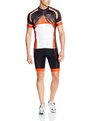 Baleaf Men's Short Sleeve Suit with 3D Cushion Cycling Jersey and Shorts Set