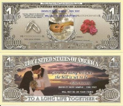 Novelty Dollar Wedding With This Ring Dollar Bills X 4 Favours New Gift