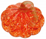 Boston International Glass Pumpkin Decorative Table Accent, Medium, Orange