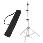 Hair Salon Adjustable 160cm Stainless Steel Tripod Stand Cosmetology Mannequin Training Head Holder for Hairdressers Trainees