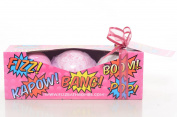 Giant Bath Bombs for Lush Bath Toys, Stocking Stuffers, Birthday Presents. 'Very Berry' Gift Set From Fizz Bath Bombs Includes 3 Giant Bombs in Amazing Colours and Fruity Scents. Bath Times Could Not Be More Fun.