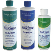 No Rinse Body Bath, Shampoo and Conditioner Set - Perfect For Care Givers