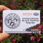 Makes 3 Organic Soap Bar, Sandalwood Black Pepper, 120ml