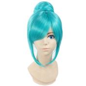 Weeck Shrot Vocaloid Hatsune Miku Project Blue Costume Cosplay Wigs