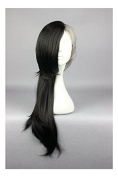 Weeck Anime Long Tokyo Ghoul Grey Synthetic Black Cosplay Wigs
