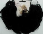 LACEY 7.6cm Pony Fastener Hair Scrunchie by Mona Lisa - 1 Jet Black
