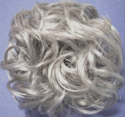LACEY 7.6cm Pony Fastener Hair Scrunchie - 51 Grey with 25% Brown