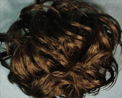 LACEY 7.6cm Pony Fastener Hair Scrunchie by Mona Lisa - 10 Medium Brown