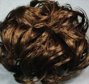LACEY 7.6cm Pony Fastener Hair Scrunchie by Mona Lisa - 12 Light Golden Brown