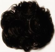 LACEY 7.6cm Pony Fastener Hair Scrunchie by Mona Lisa - 2 Darkest Brown