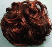 LACEY 7.6cm Pony Fastener Hair Scrunchie - 33-130 Dark Auburn-Copper Red