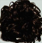 LACEY 7.6cm Pony Fastener Hair Scrunchie by Mona Lisa - 4 Dark Brown