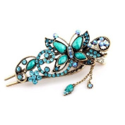 TOOGOO(R) Green Vintage Jewellery Crystal Butterfly Hairpins Clip Hair stick for hair Beauty Tools
