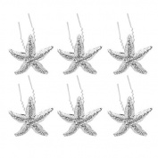 Ecloud ShopUS® 6 * elegant wedding bride bridesmaid rhinestone crystal starfish hairpin