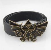 UNIQU New Nintendo The Legend Of Zelda Triforce Mens Metal Belt Buckle Leather