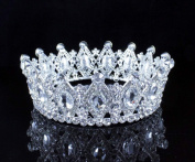 Stunning Full Crown Clear Austrian Crystal Rhinestone Tiara Pageant Bridal T1927