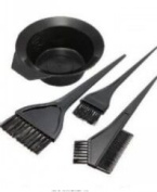 Hairdressing Salon Hair Colouring Tools Dyeing Bowl Comb Brushes Kit Set Tint Colouring Bleac 4 Pcs