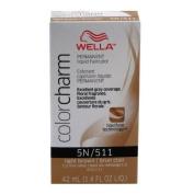 Wella Colour Charm 511/5N Light Brown PERMANENT Liquid Hair Colour Value Packs (2 pcs) by P & G