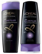 L'Oreal Paris Advanced Haircare - Volume Filler Thickening Shampoo & Conditioner Set - Net Wt. 12.6 FL OZ (375 mL) Each - One Set by L'Oreal Paris