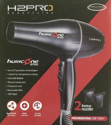H2Pro Hurricane 3700 Hair Dryer, tourmaline technology, 2 speed settings, 3 temperature setting, cool shot button, thermal protection, 2.7m power cord, removable filter, 1987 watts, nano hi tech,