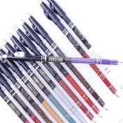 Popfeel 12 Colours Matter Eyeliner Pencil with Sharpener
