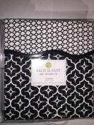 Balboa Baby Cotton Sateen Coverlet, Black Lattice/Diamond