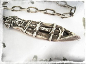 Artisan Solid Silver Spear of Destiny or Holy Lance Pendant with Its Hand Forged Chain