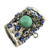 PendantScarf Blue Rhinestones Metal Jewellery Scarf Clasp Slides Bails