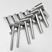 STEEL BLOCK SWAGE U-CHANNEL & 6 HAMMER PUNCHES METAL FORMING DAPPING SHAPING (LZ 4.8 FRE) NOVELTOOLS