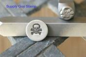 Brand New Supply Guy 6mm Skull & Crossbones Metal Punch Design Stamp