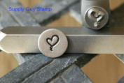 Brand New Supply Guy 7mm Ribbon Heart Metal Punch Design Stamp