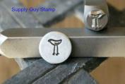 Brand New Supply Guy 6mm Big Love Bird Metal Punch Design Stamp