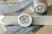 Brand New Supply Guy 8mm Baby Feet with Heart Metal Punch Design Stamp