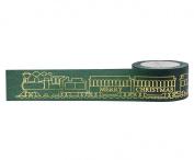 Little B 100772 Decorative Foil Paper Tape, Locomotive Gold Foil